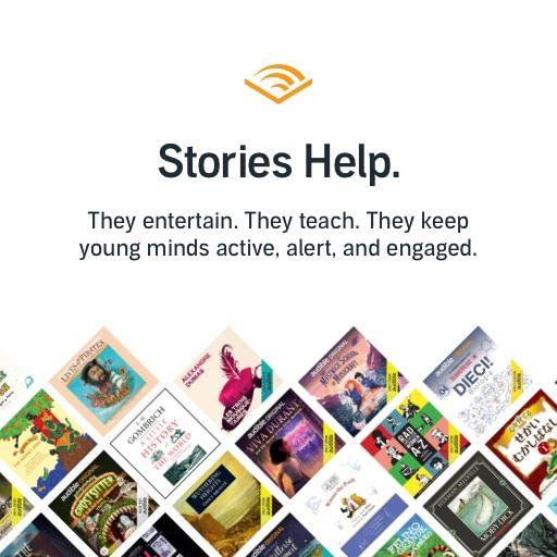 Audible free stories logo